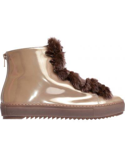 Кожаные ботинки осенние на платформе Attilio Giusti Leombruni