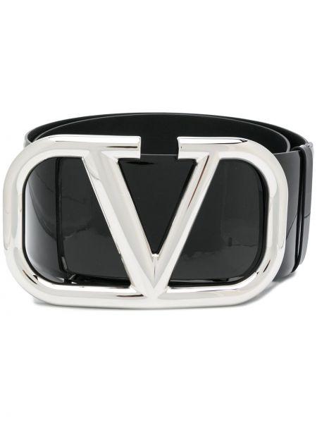 Кожаный черный ремень Valentino Garavani
