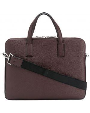 Кожаная сумка - коричневая Boss Hugo Boss