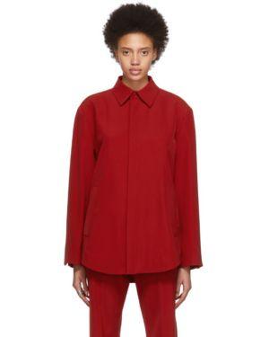 Рубашка с длинным рукавом для полных в полоску Balenciaga