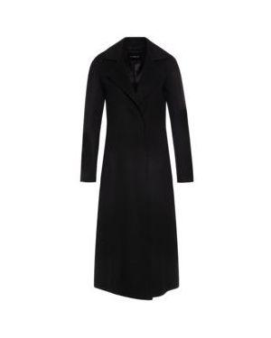 Czarny płaszcz wełniany John Richmond