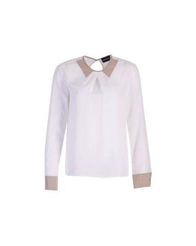 Белая блузка английская Emporio Armani