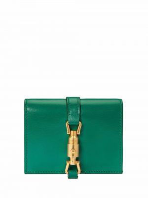 Portfel skórzany - zielony Gucci