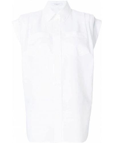 Bawełna klasyczna koszula z kołnierzem z kieszeniami Givenchy