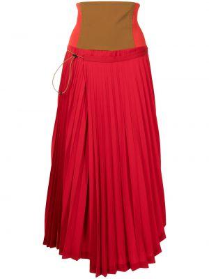 Красная асимметричная юбка Toga Pulla