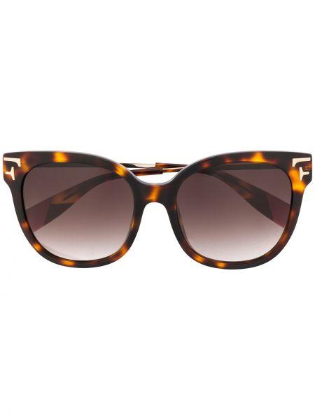 Солнцезащитные очки с логотипом - коричневые Furla