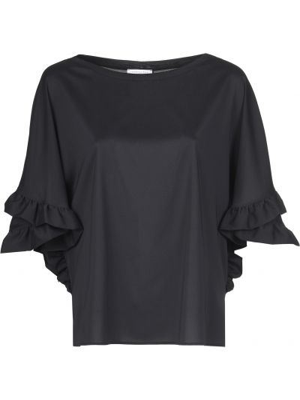 Блузка из полиэстера - черная Patrizia Pepe