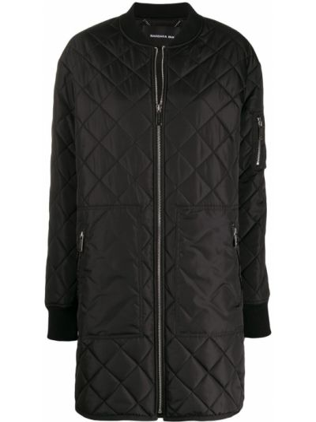 Czarna kurtka pikowana wełniana Barbara Bui