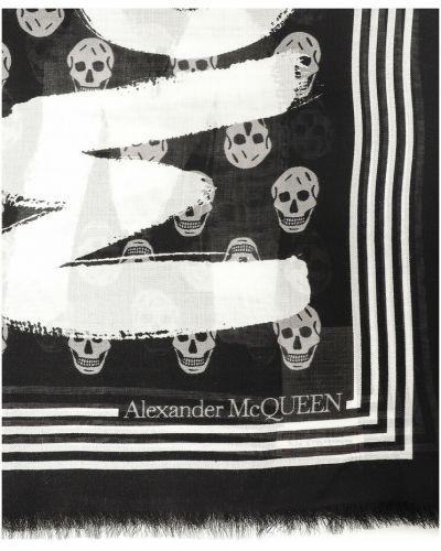 Szalik - czarny Alexander Mcqueen