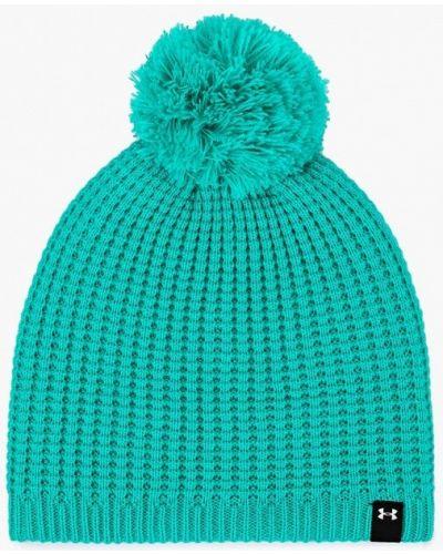 Зеленая шапка осенняя Under Armour