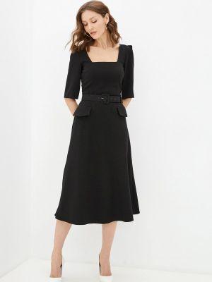 Прямое черное платье А-силуэта Y.o.u.