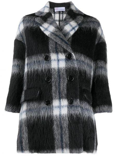 Czarny płaszcz wełniany Redvalentino