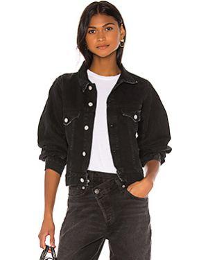 Джинсовая куртка на пуговицах с карманами Agolde