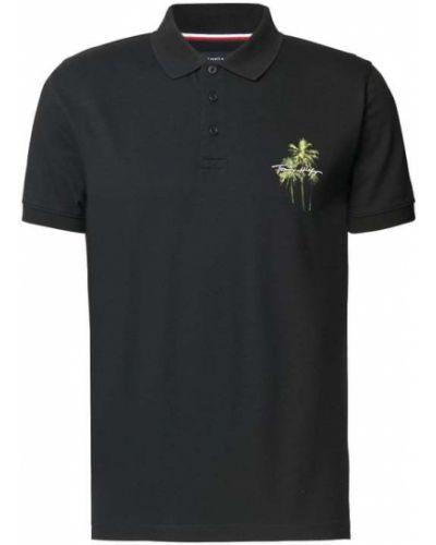 T-shirt z printem - czarna Tommy Hilfiger