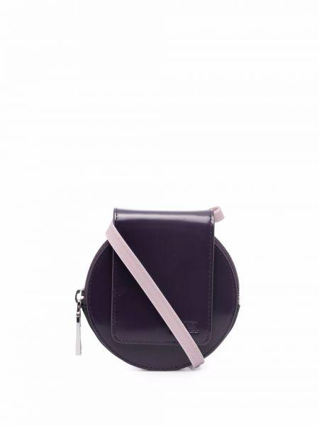 Фиолетовая кожаная барсетка Diesel