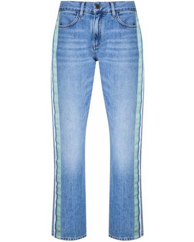 Прямые джинсы укороченные с лампасами Victoria Beckham