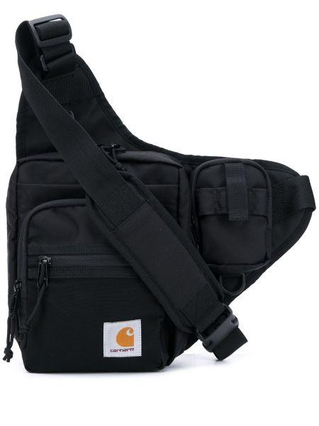 Черная нейлоновая сумка на плечо на молнии с заплатками Carhartt Wip