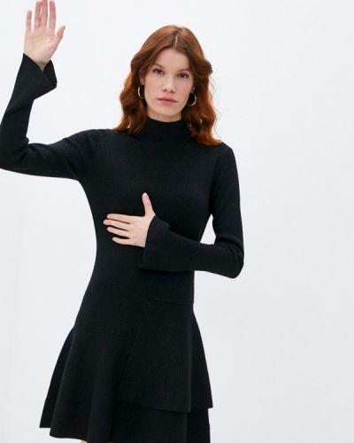 Вязаное черное платье Boss