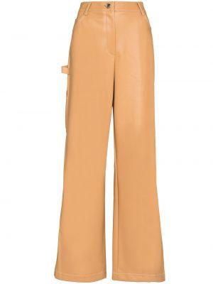 Широкие брюки - бежевые Staud