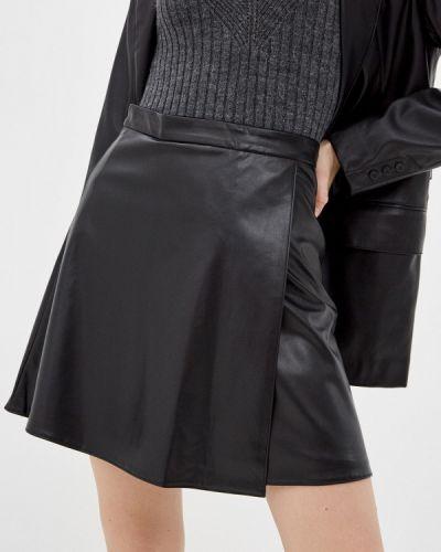 Черная кожаная юбка Trendyangel