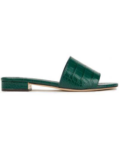 Зеленые кожаные сандалии на каблуке Tory Burch