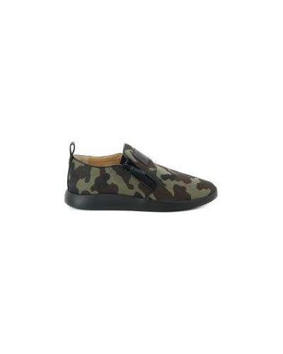 Зеленые кроссовки на молнии Giuseppe Zanotti