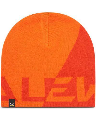 Pomarańczowa czapka Salewa