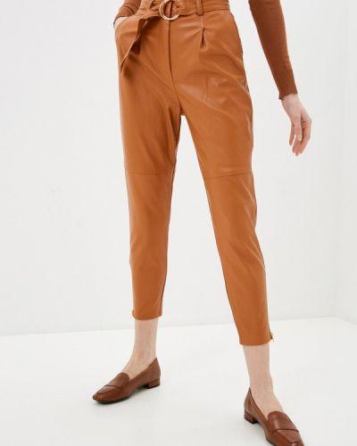 Коричневые кожаные брюки Zabaione