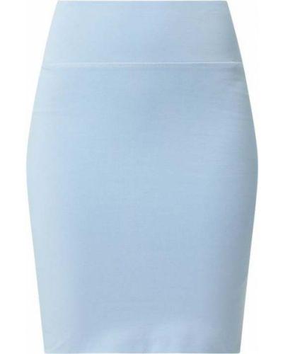 Spódnica ołówkowa bawełniana - niebieska Kaffe