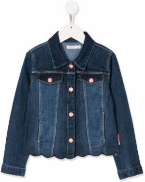 Klasyczne niebieskie jeansy z haftem Billieblush