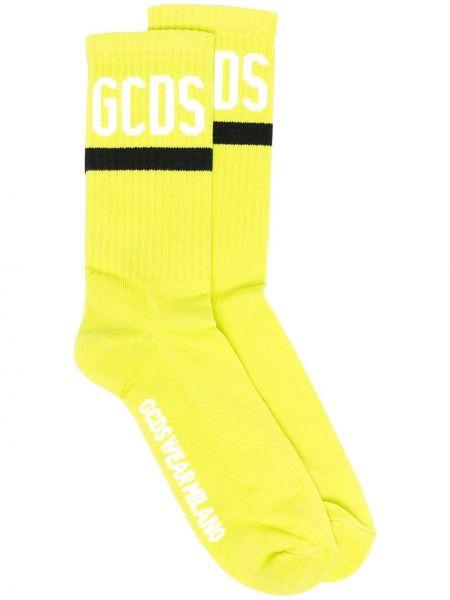 Хлопковые черные носки стрейч Gcds