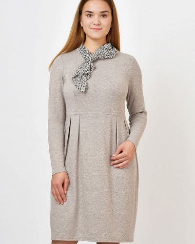 Повседневное платье осеннее бежевое Kontaly