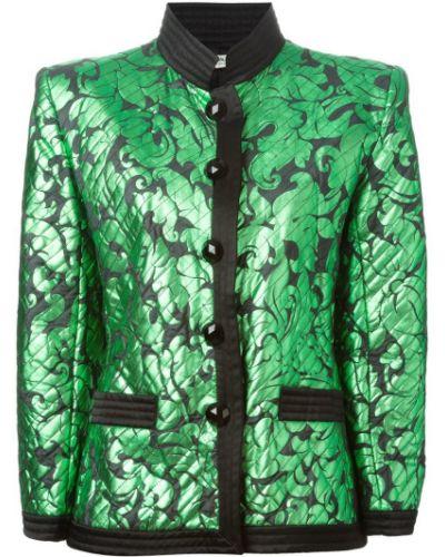 Приталенный пиджак - зеленый Yves Saint Laurent Vintage