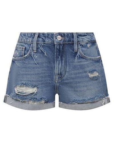 Джинсовые шорты - синие Frame Denim