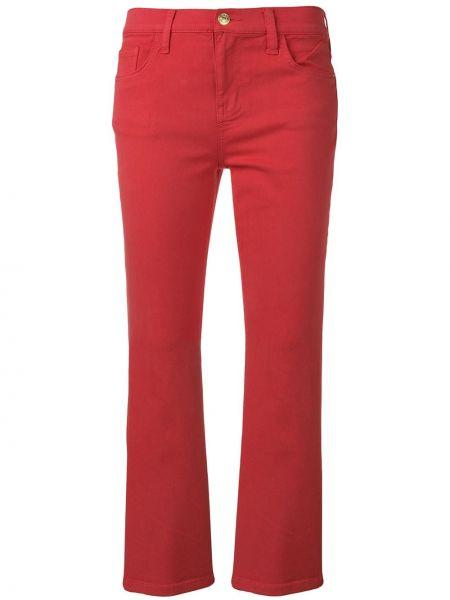 Расклешенные джинсы розовый на пуговицах Current/elliott