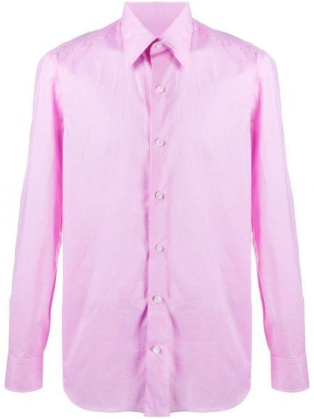 Розовая рубашка на пуговицах Salvatore Piccolo