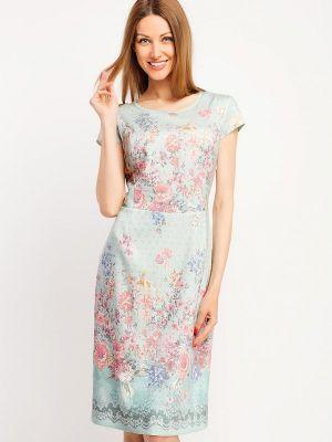 Платье миди бирюзовый Giulia Rossi