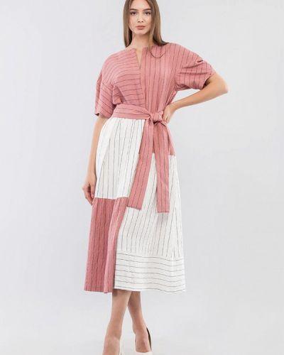 Повседневное розовое платье Maxa