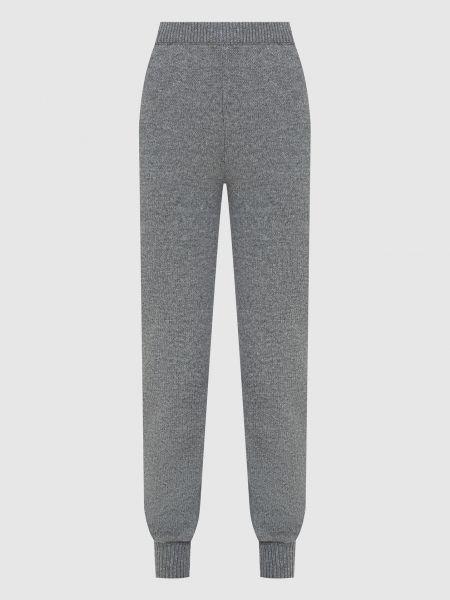 Шерстяные серые спортивные брюки Prada