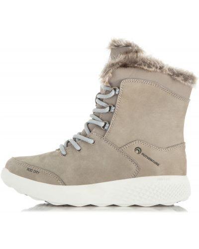 Кожаные сапоги на шнуровке теплые Outventure