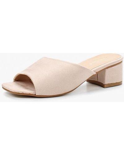 Бежевые велюровые сабо Ideal Shoes®