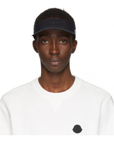 Нейлоновый черный чепчик с вышивкой Moncler