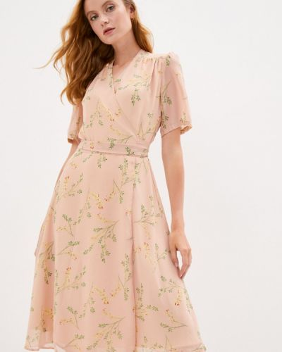 Розовое платье с запахом Lorani