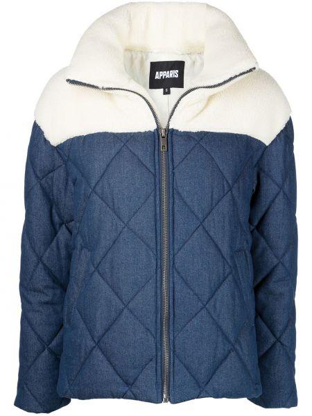 Niebieski płaszcz bawełniany Apparis