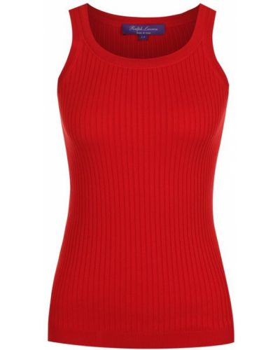 Красный топ однотонный Ralph Lauren