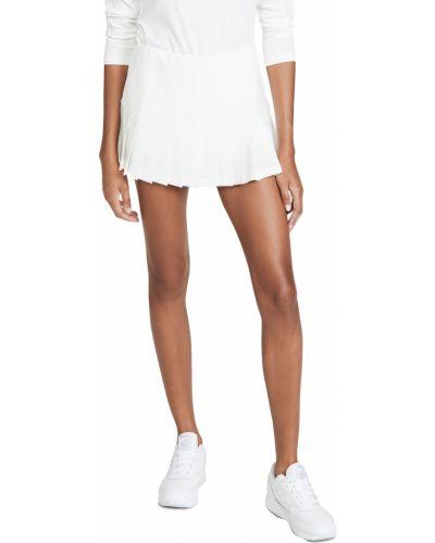 Белая плиссированная спортивная юбка на резинке Tory Sport