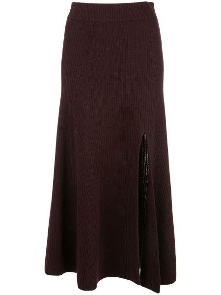 Вязаная кашемировая асимметричная юбка с разрезом Altuzarra