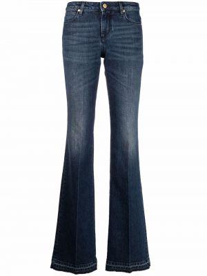 Синие хлопковые джинсы клеш классические Roberto Cavalli