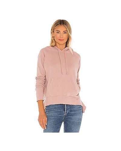 Махровый розовый свитер с капюшоном с завязками Frank & Eileen