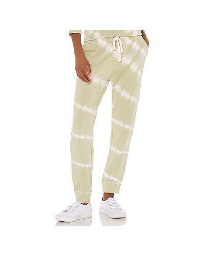 Хлопковые зеленые брюки на резинке с завязками с карманами Rails